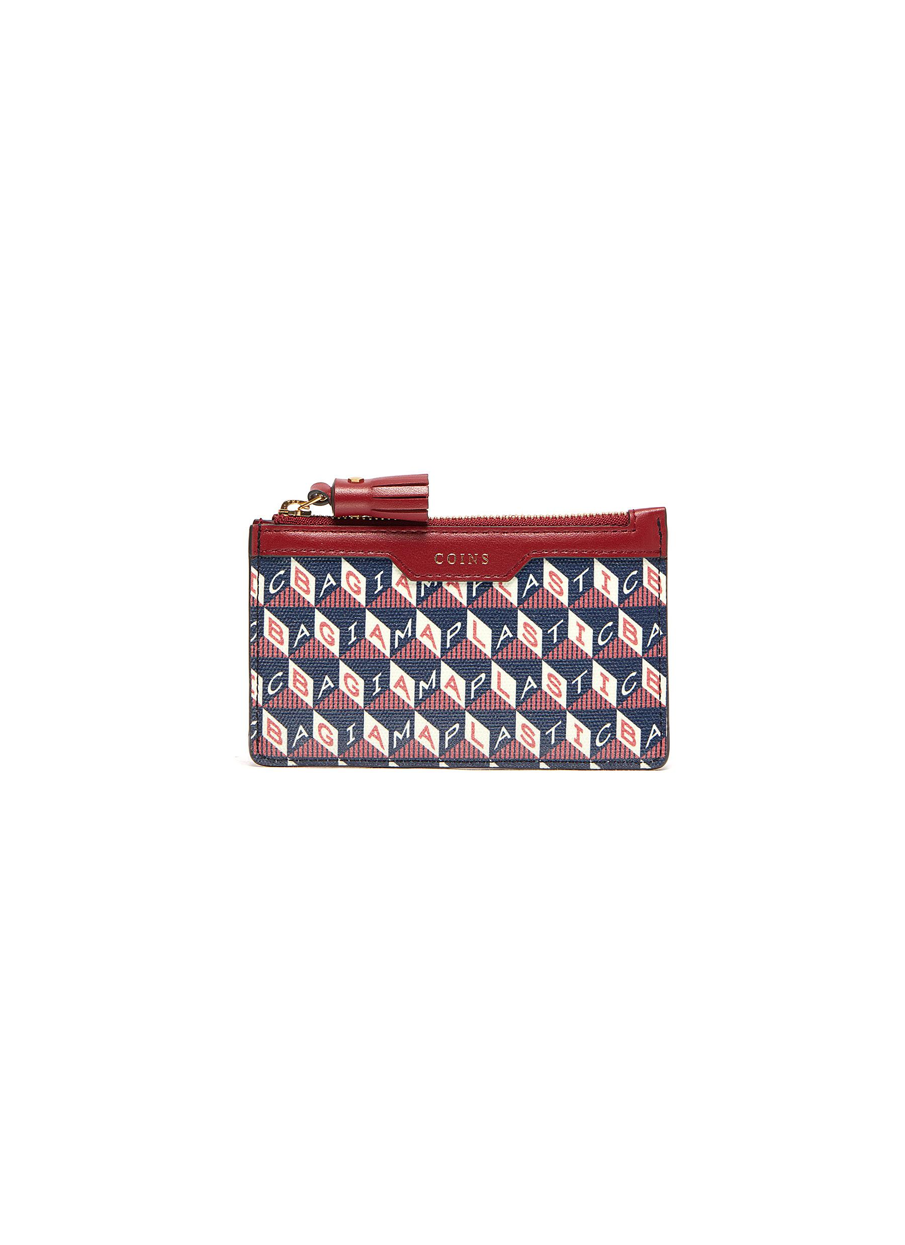 Anya Hindmarch I AM A PLASTIC BAG ZIP CARD CASE