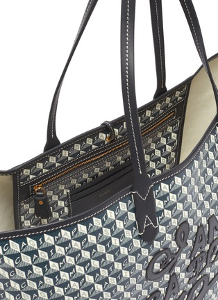 Detail View - Click To Enlarge - ANYA HINDMARCH - I Am A Plastic Bag slogan embroidered tote bag