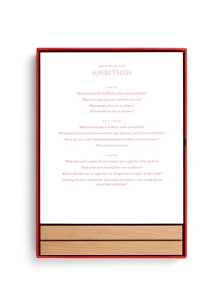 Detail View - Click To Enlarge - THE SCHOOL OF LIFE - Conversation menus set