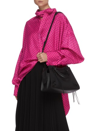 Front View - Click To Enlarge - BALENCIAGA - 'Neo Classic City Small' leather shoulder bag