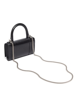 Detail View - Click To Enlarge - BALENCIAGA - HOURGLASS' Crossbody Top Handle Leather Phone Holder