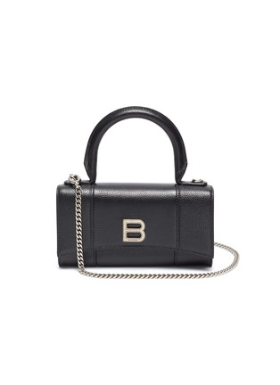 Main View - Click To Enlarge - BALENCIAGA - HOURGLASS' Crossbody Top Handle Leather Phone Holder
