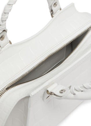 Detail View - Click To Enlarge - BALENCIAGA - 'NEO CLASSIC CITY MINI' Croc Embossed Leather Bag