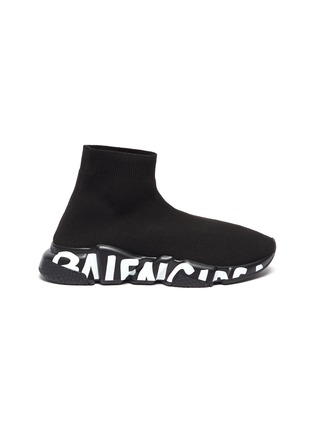 Main View - Click To Enlarge - BALENCIAGA - SPEED' Graffiti Sole Knit Sneakers