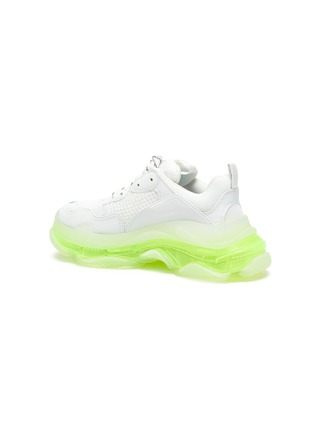 - BALENCIAGA - 'TRIPLE S' Neon Sole Chunky Leather Sneakers