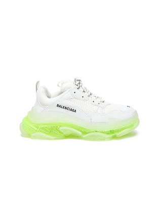 Main View - Click To Enlarge - BALENCIAGA - 'TRIPLE S' Neon Sole Chunky Leather Sneakers