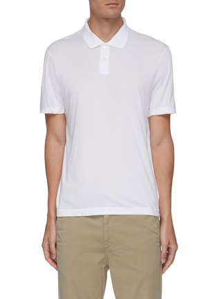 Main View - Click To Enlarge - JAMES PERSE - Elevated Lotus cotton polo shirt