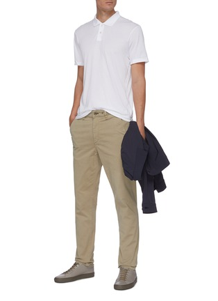 Figure View - Click To Enlarge - JAMES PERSE - Elevated Lotus cotton polo shirt