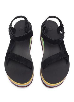 Detail View - Click To Enlarge - TEVA - x Opening Ceremony Flatform Universal rainbow platform sandals
