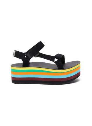 Main View - Click To Enlarge - TEVA - x Opening Ceremony Flatform Universal rainbow platform sandals