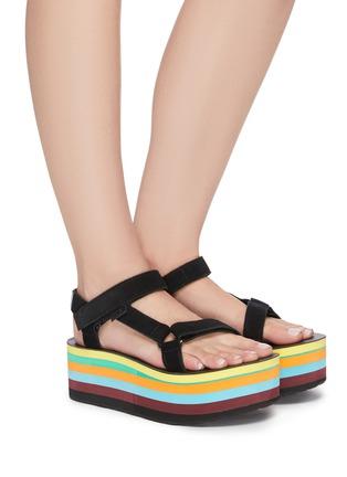 Figure View - Click To Enlarge - TEVA - x Opening Ceremony Flatform Universal rainbow platform sandals