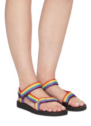 Figure View - Click To Enlarge - TEVA - Original Universal rainbow strap sandals