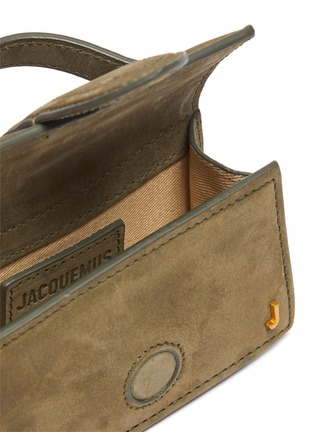 Detail View - Click To Enlarge - JACQUEMUS - 'Petit Bambino' small suede top handle bag