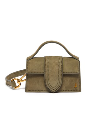 Main View - Click To Enlarge - JACQUEMUS - 'Petit Bambino' small suede top handle bag