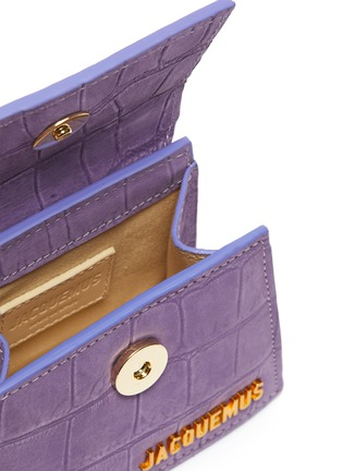 Detail View - Click To Enlarge - JACQUEMUS - 'Small Chiquito' croc embossed suede top handle bag