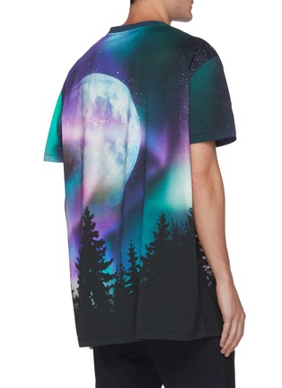 Back View - Click To Enlarge - BALMAIN - Moon graphic print oversized T-shirt