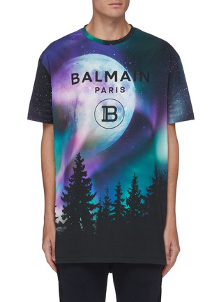 Main View - Click To Enlarge - BALMAIN - Moon graphic print oversized T-shirt