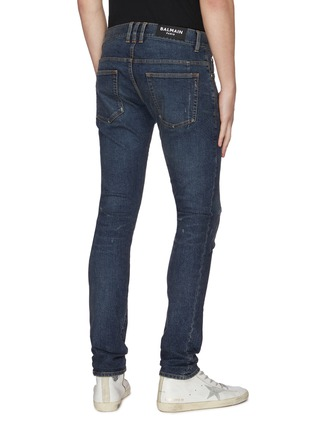 Back View - Click To Enlarge - BALMAIN - Distressed slim fit jeans