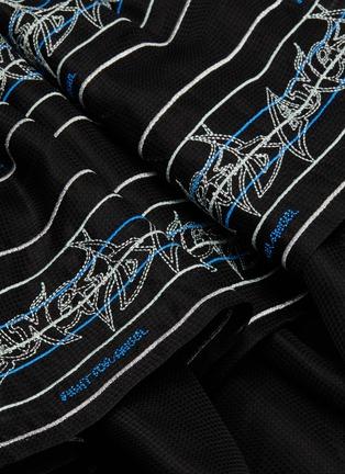 - ANGEL CHEN - Logo embroidered panel silk skirt