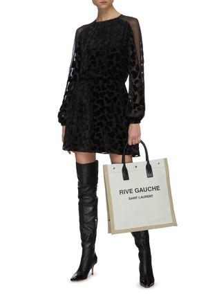 Figure View - Click To Enlarge - SAINT LAURENT - 'Noe Rive Gauche N/S' logo tote bag