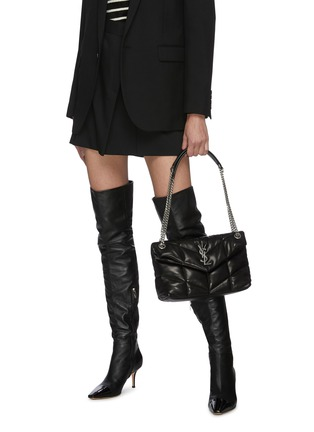 Figure View - Click To Enlarge - SAINT LAURENT - 'LouLou Small' puffer quilted leather bag