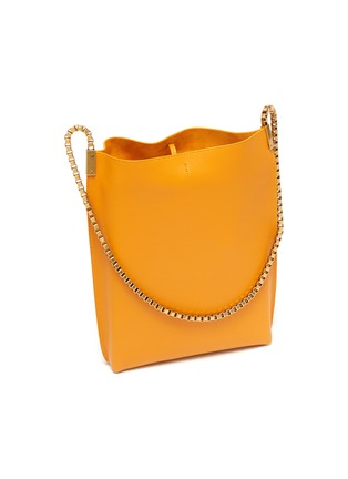 Detail View - Click To Enlarge - SAINT LAURENT - Chain strap leather hobo bag
