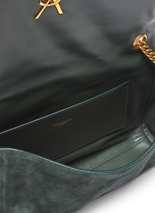 Detail View - Click To Enlarge - SAINT LAURENT - Kate' reversible suede shoulder bag