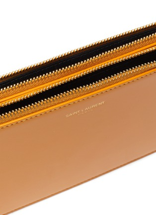 Detail View - Click To Enlarge - SAINT LAURENT - Matte leather crossbody pouch