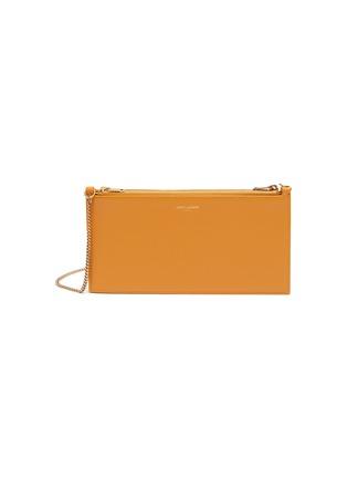 Main View - Click To Enlarge - SAINT LAURENT - Matte leather crossbody pouch