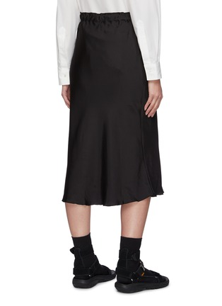 Back View - Click To Enlarge - SHORT SENTENCE - Belted flared midi skirt