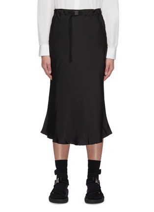 Main View - Click To Enlarge - SHORT SENTENCE - Belted flared midi skirt