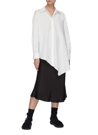 Figure View - Click To Enlarge - SHORT SENTENCE - Belted flared midi skirt