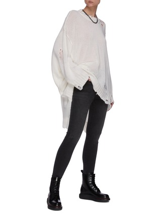 Figure View - Click To Enlarge - R13 - Distressed cashmere patti sweater