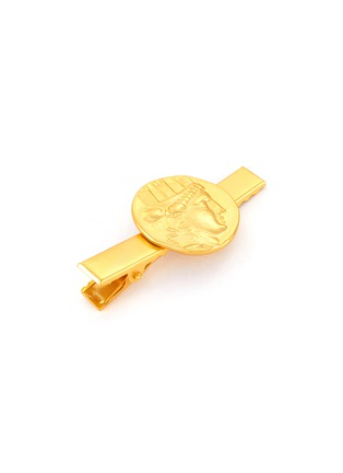 Detail View - Click To Enlarge - KENNETH JAY LANE - Satin gold coin centred hair clip