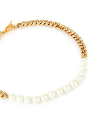 Detail View - Click To Enlarge - KENNETH JAY LANE - Pearl chain necklace