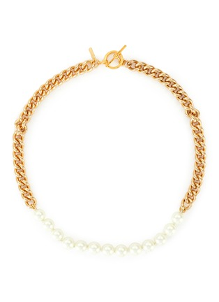 Main View - Click To Enlarge - KENNETH JAY LANE - Pearl chain necklace