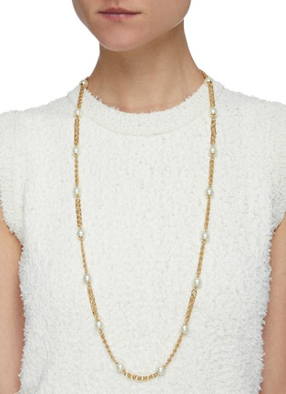 Figure View - Click To Enlarge - KENNETH JAY LANE - Pearl chain necklace