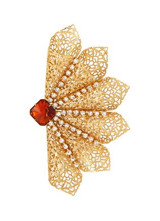 Main View - Click To Enlarge - KENNETH JAY LANE - Class crystal filigree brooch