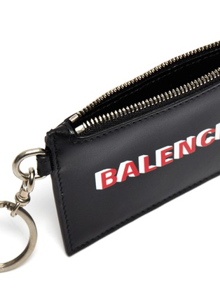 Detail View - Click To Enlarge - BALENCIAGA - Leather keyring cardholder