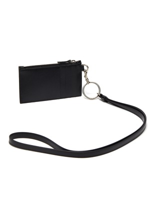 Figure View - Click To Enlarge - BALENCIAGA - Leather keyring cardholder