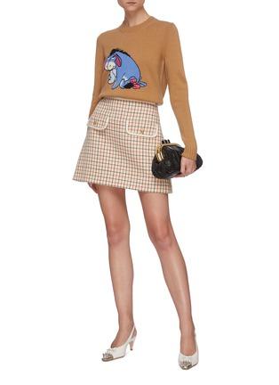 Figure View - Click To Enlarge - MIU MIU - Eyeore Donkey intarsia sweater