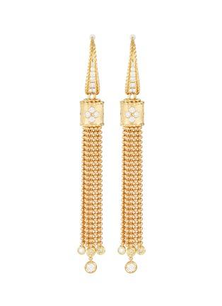 Main View - Click To Enlarge - ROBERTO COIN - Princess diamond 18k gold tassel earrings