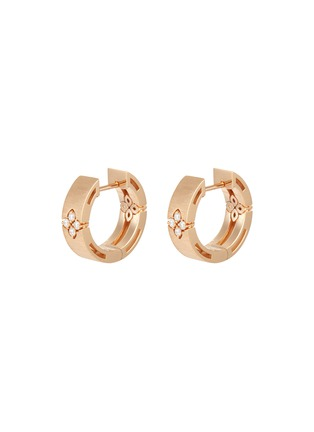 Main View - Click To Enlarge - ROBERTO COIN - Love in Verona diamond 18k rose gold earrings