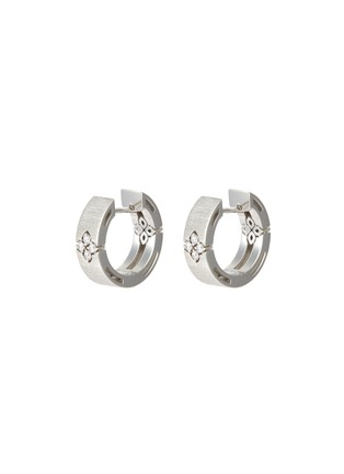 Main View - Click To Enlarge - ROBERTO COIN - Love in Verona diamond 18k white gold earrings