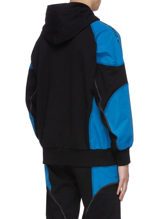 Back View - Click To Enlarge - FENG CHEN WANG - 'Pepsi' Contrast panel loose fit hoodie