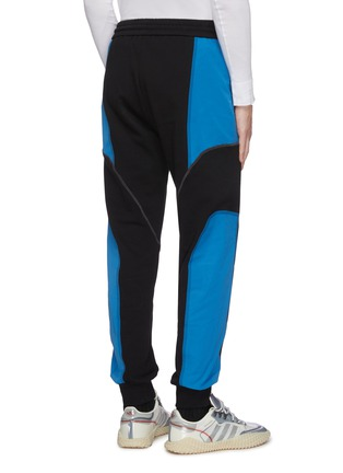 Back View - Click To Enlarge - FENG CHEN WANG - 'Pepsi' contrast panel jogging pants