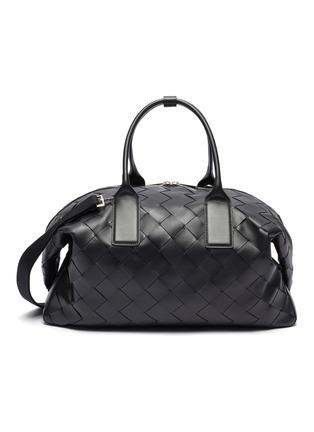 Main View - Click To Enlarge - BOTTEGA VENETA - Intrecciato leather weekender bag