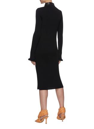 Back View - Click To Enlarge - BOTTEGA VENETA - Chunky rib button up dress