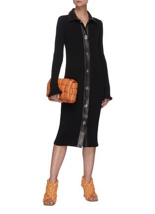 Figure View - Click To Enlarge - BOTTEGA VENETA - Chunky rib button up dress