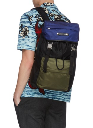Figure View - Click To Enlarge - MARNI - 'Hackney' nylon backpack